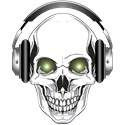 Green Eye DJ Skull