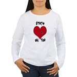 Stuck on you valentine Women's Long Sleeve T-Shirt