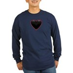 Black Glossy Heart Anti Valentine Long Sleeve Dark