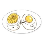 Deviled Eggs Oval Sticker