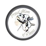 Pygmy Goat Twins Wall Clock