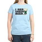 I See Green Beer St Pat's Women's Light T-Shirt
