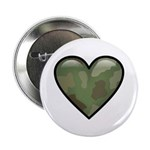 "Love Military Cammo Heart 2.25"" Button (100 pack)"