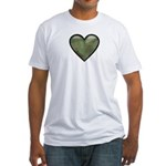 Love Military Cammo Heart Fitted T-Shirt