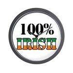 100 Percent Irish Wall Clock