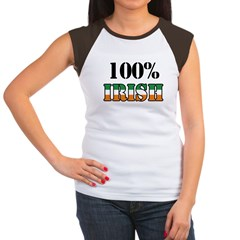 100 Percent Irish T-Shirts Women's Cap Sleeve T-Shirt