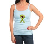 Keep My Son-in-law Safe Ribbon Jr. Spaghetti Tank
