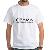 Logical Obama White T-Shirt
