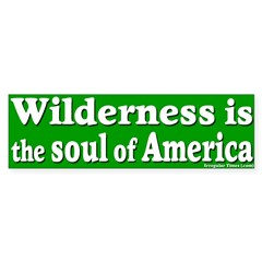 Wilderness: America's Soul Bumper Sticker