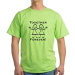 Together Forever Lesbian Green T-Shirt