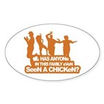 Chicken Dance Oval Sticker