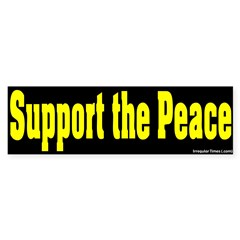 Black Support the Peace Bumper Sticker