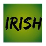Irish Handwriting Tile Coaster