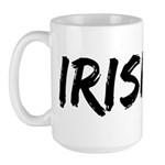 Irish Handwriting Large Mug