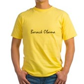 Script Barack Obama Yellow T-Shirt