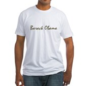 Script Barack Obama Fitted T-Shirt