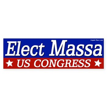 Elect Eric Massa to Congress bumper sticker