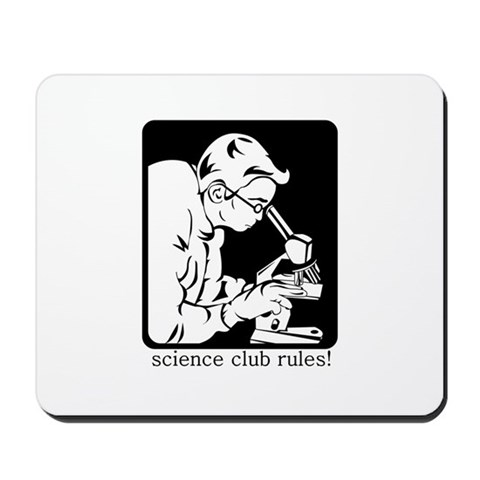 Science Club Rules Mousepad