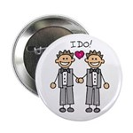 "Men's Gay Marriage 2.25"" Button (10 pack)"