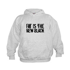Fat Is The New Black Funny T-Shirts & Gifts Kids Hoodie