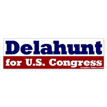 Bill Delahunt for Congress bumper sticker