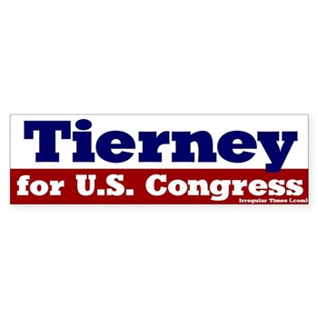 John Tierney for U.S. Congress bumper sticker
