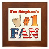 I'm Stephen's #1 Fan Framed Tile