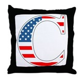 C stands for Colbert Throw Pillow