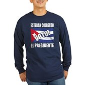 Voto! Esteban Colberto Long Sleeve Dark T-Shirt