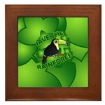 Save the Rainforest Framed Tile