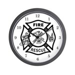 Fire Rescue Wall Clock