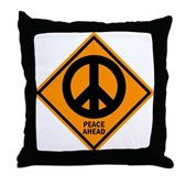 Peace Ahead Throw Pillow