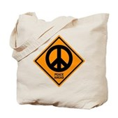 Peace Ahead Tote Bag