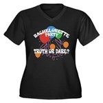 Women's Plus Size V-Neck Black T-Shirt