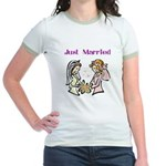 2 Brides Jr. Ringer T-Shirt