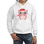 Le Pink Owl Hooded Sweatshirt