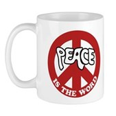Peace is the word Mug