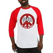 Peace is the word Baseball Jersey