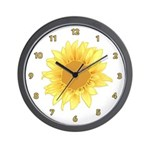 Sunflower Wall Clocks Available in black and white