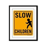 Slow Children Framed Panel Print