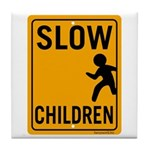 Slow Children Tile Coaster
