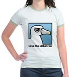 Save the Albatross (close-up) Jr. Ringer T-Shirt