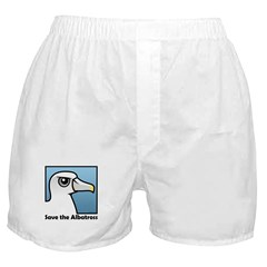 Save the Albatross (close-up) Boxer Shorts