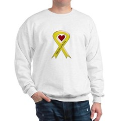 Take Care of my Son Yellow Ribbon Sweatshirt
