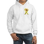 I Am Proud Of My Daughter Yellow Ribbon Hooded Swe