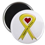 "Support Our Air Force Yellow Ribbon 2.25"" Magnet ("