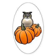 Birdorable GHOW Pumpkins Sticker (Oval)