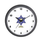 Jewish Star Wall Clock