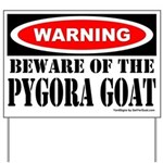 Beware Pygora Goat Yard Sign
