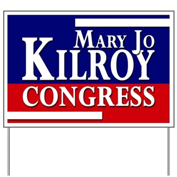 Mary Jo Kilroy for Congress Campaign Yard Sign